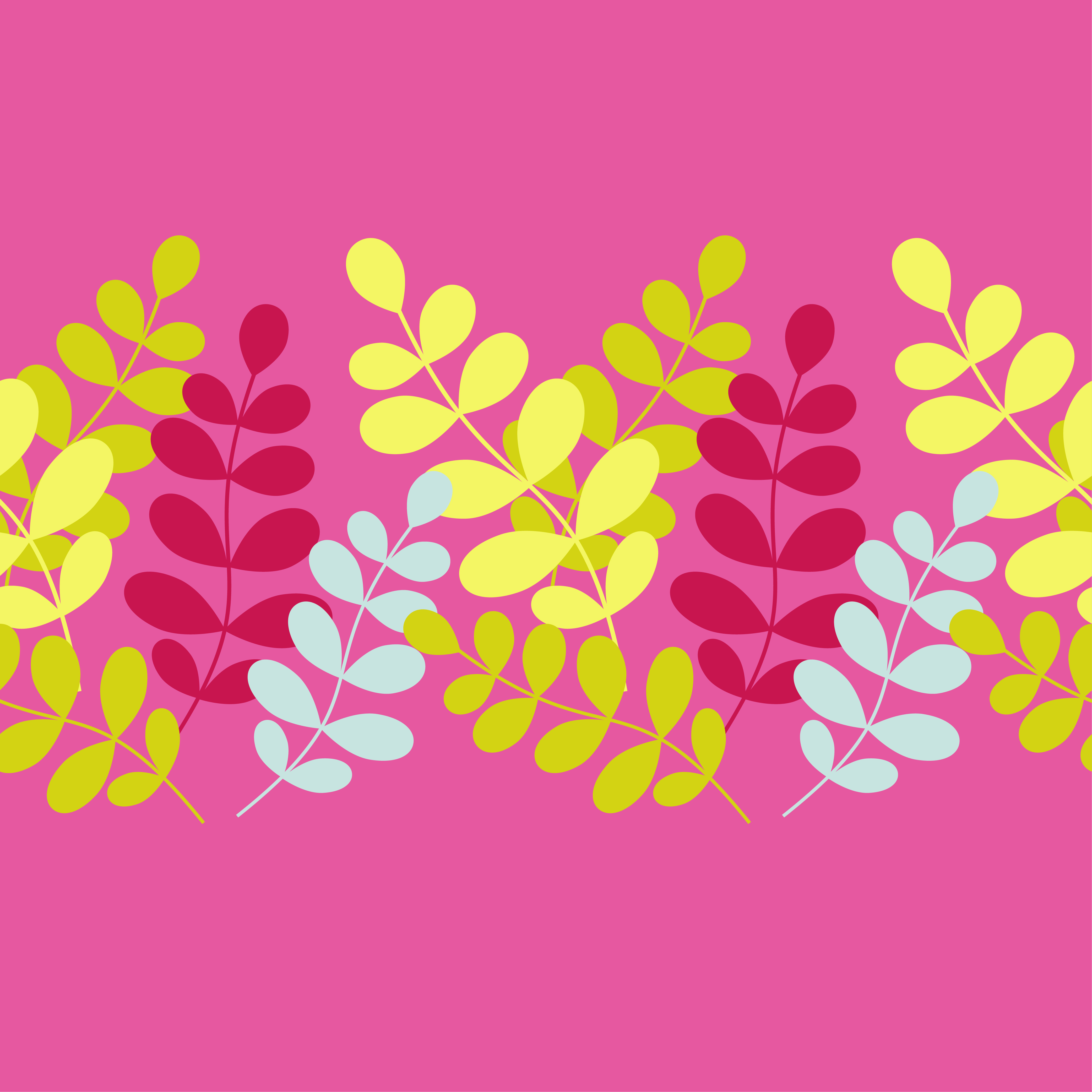 Seamless vector background with decorative branche and leaves. Pattern with plants. example image 3