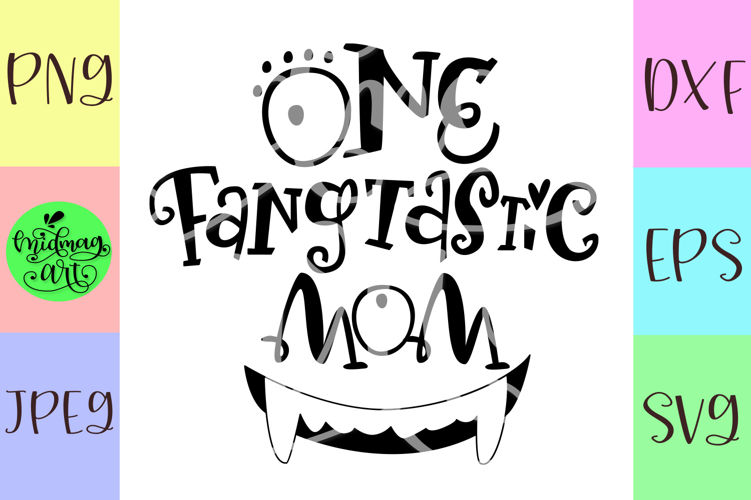 One fangtastic mom svg, mom halloween svg example image 2