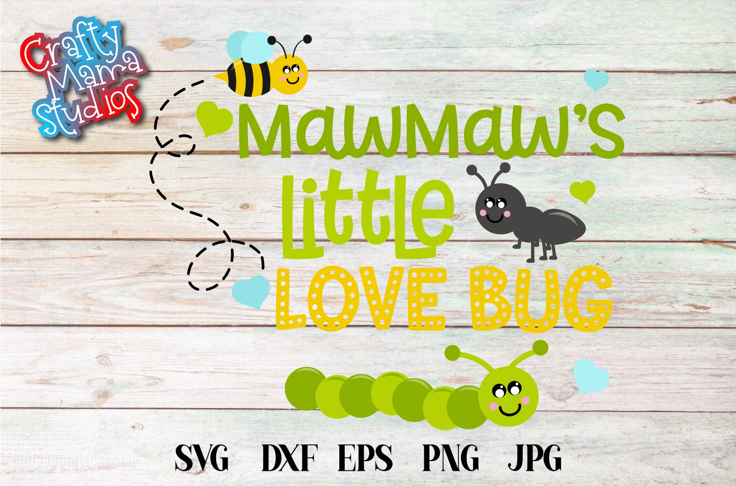 Valentine's Day SVG Little Love Bug, MawMaw's Love Bug SVG example image 2