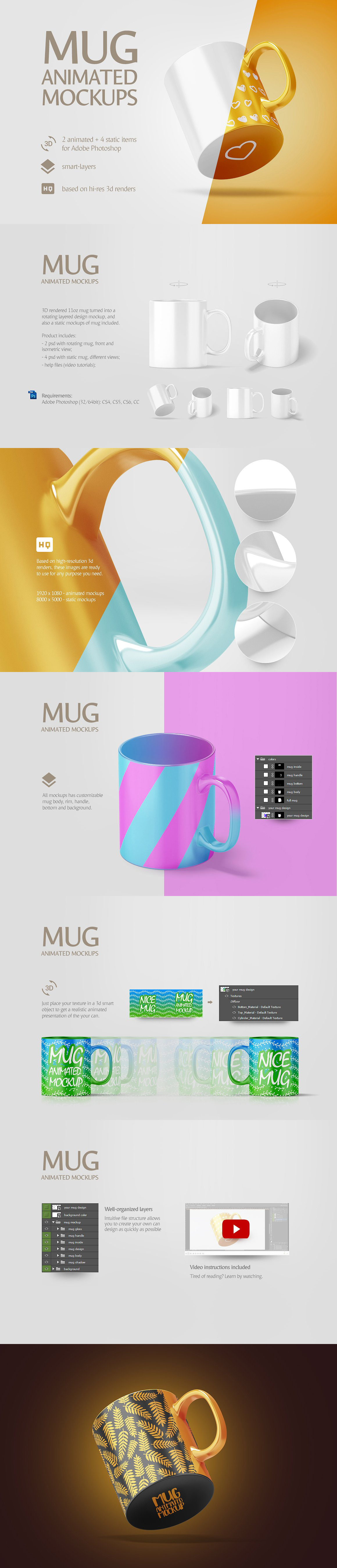 Mug Animated Mockups Bundle example image 3