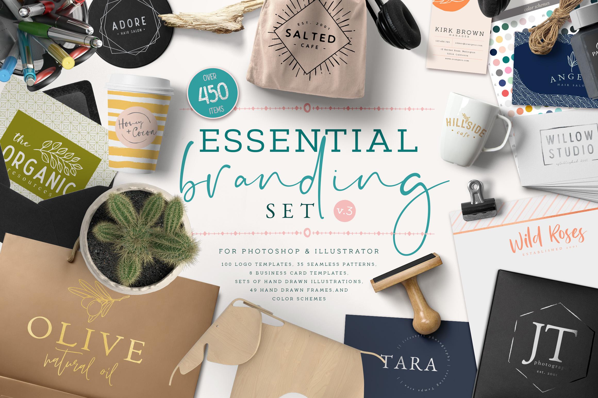 Essential Branding set v.3 example image 1