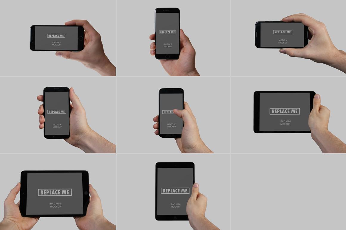 Handheld Device Mockups example image 2