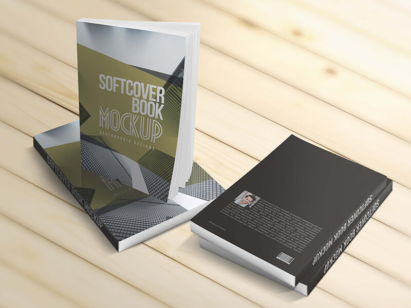 Softcover Book Mockups example image 2