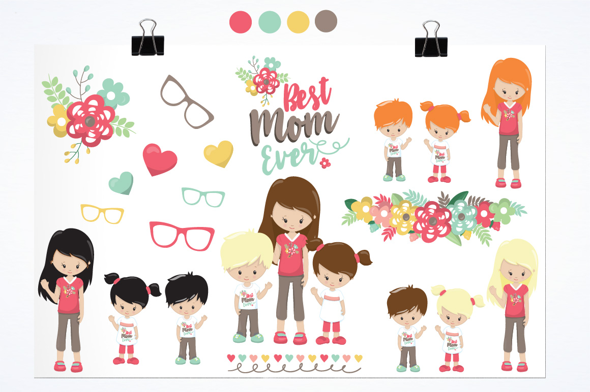 Mother's day graphics and illustrations example image 2