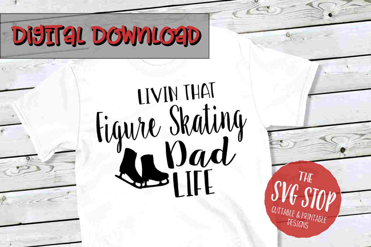 Figure Skating Dad Life -SVG, PNG, DXF example image 1