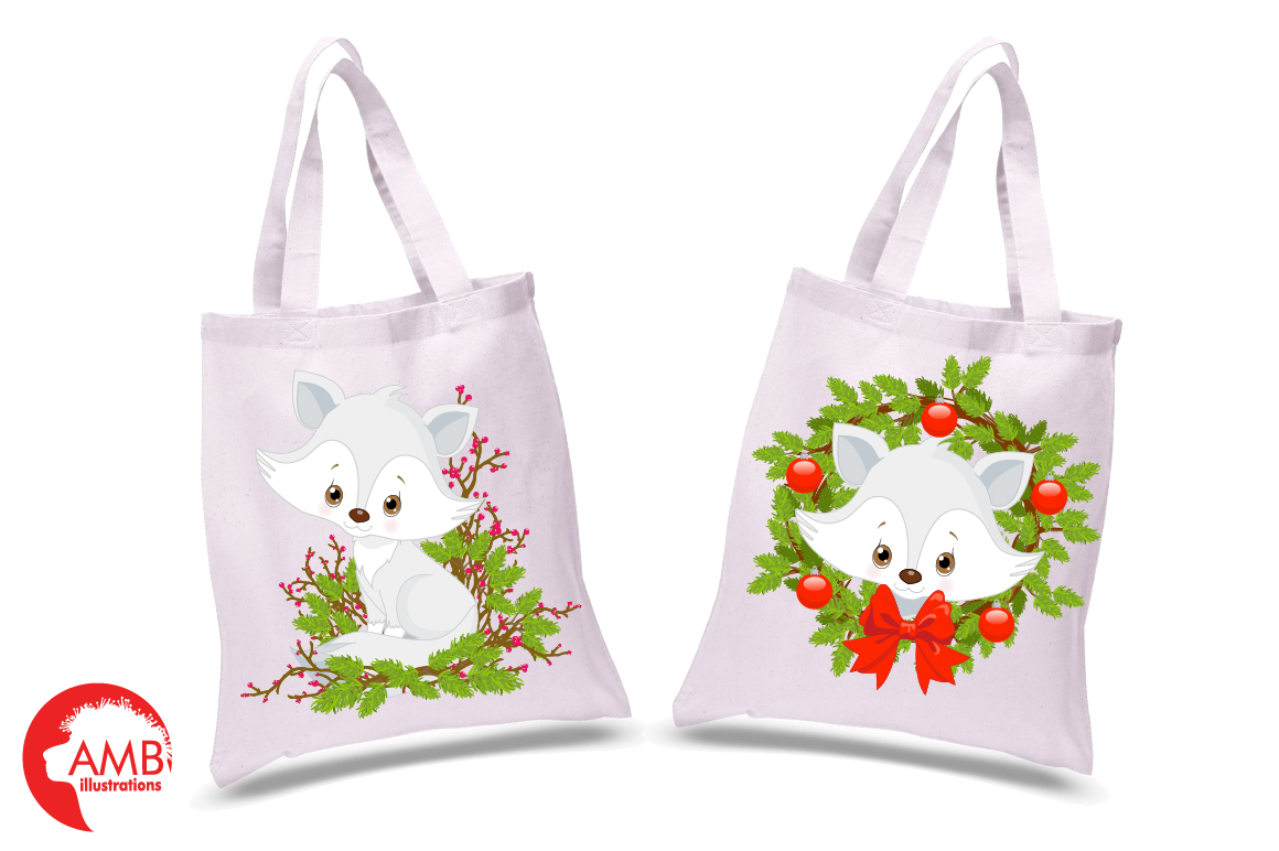 Winter Foxes cliparts, graphics, illustrations AMB-2298 example image 3