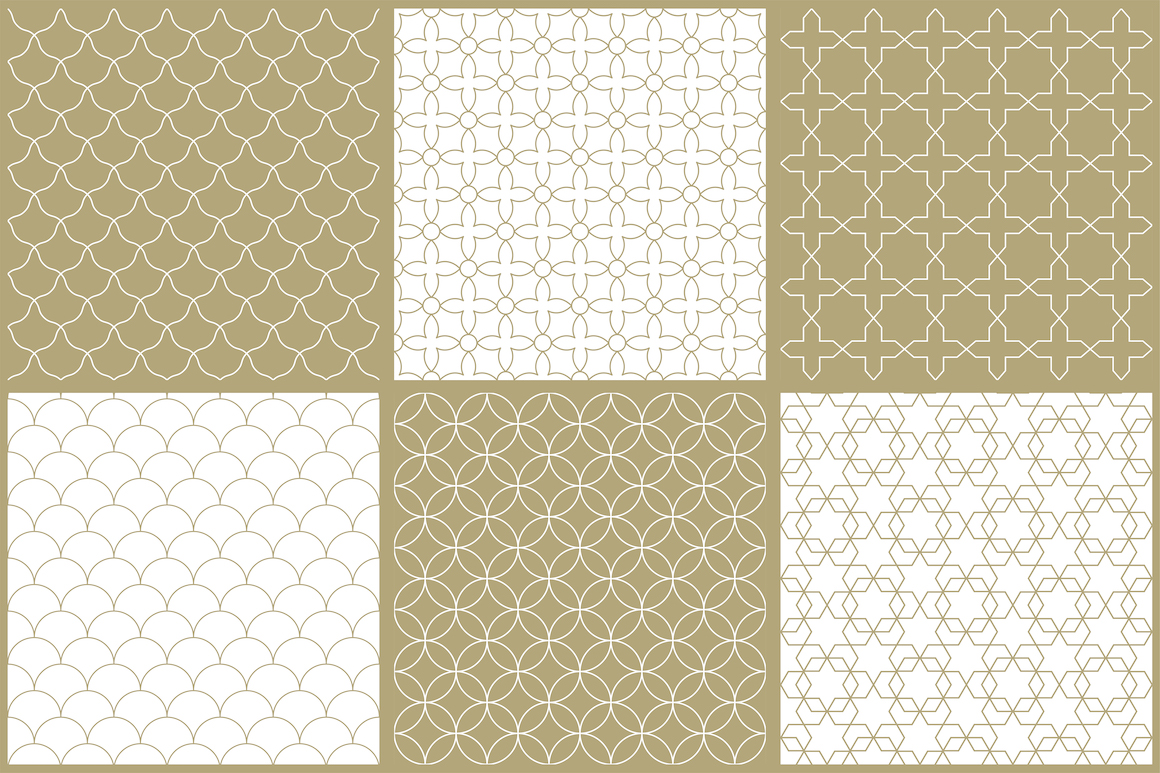 Vector ornamental seamless patterns example image 12