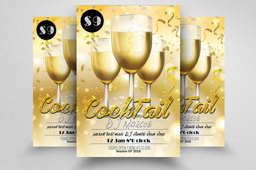 10 Summer Beach Cocktail Party Flyers Bundle example image 4