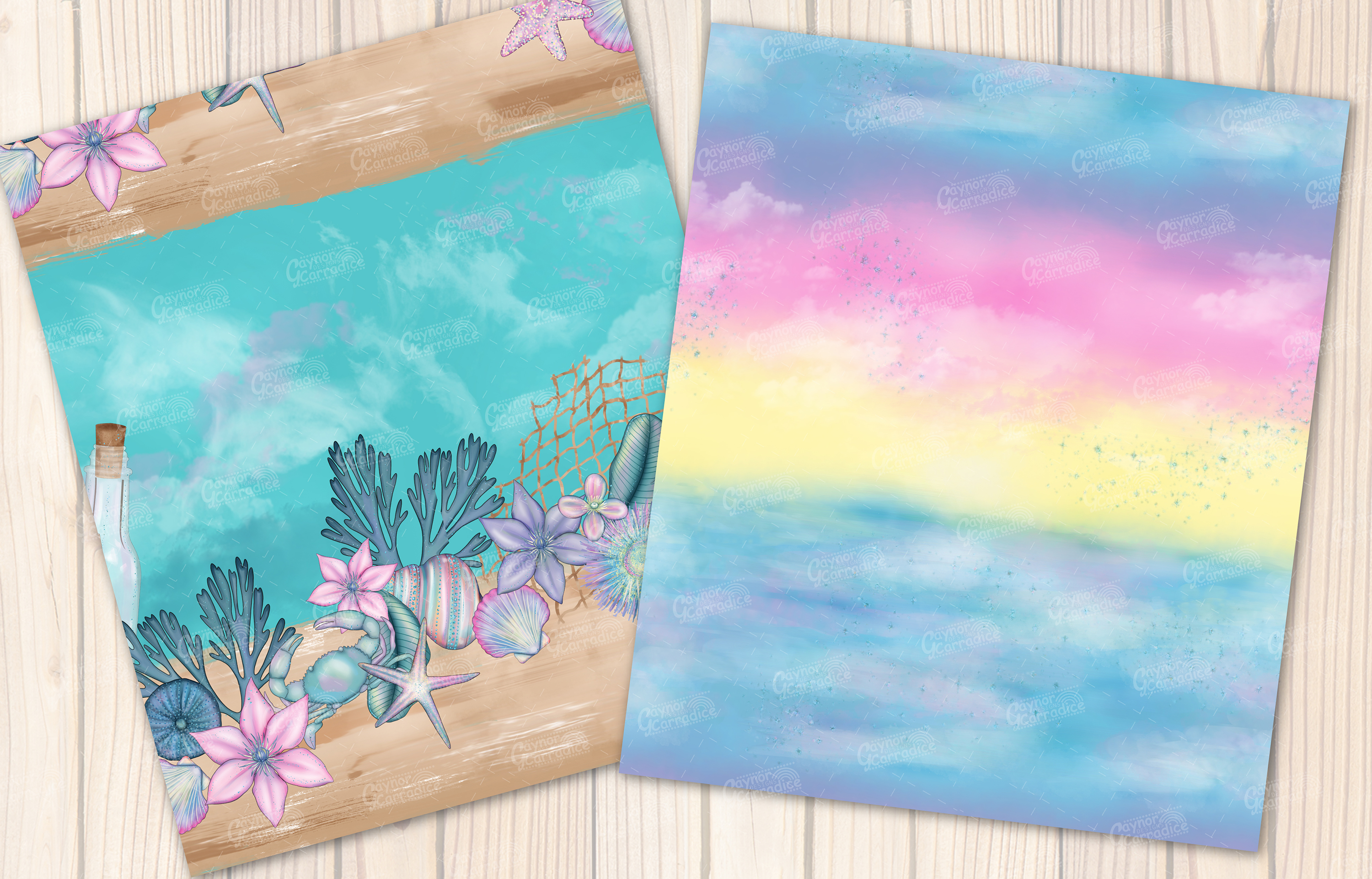I washed up like this - Summer mermaid Seamless Patterns example image 5