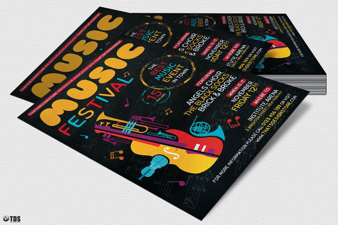 Music Festival Flyer Template V10 example image 4