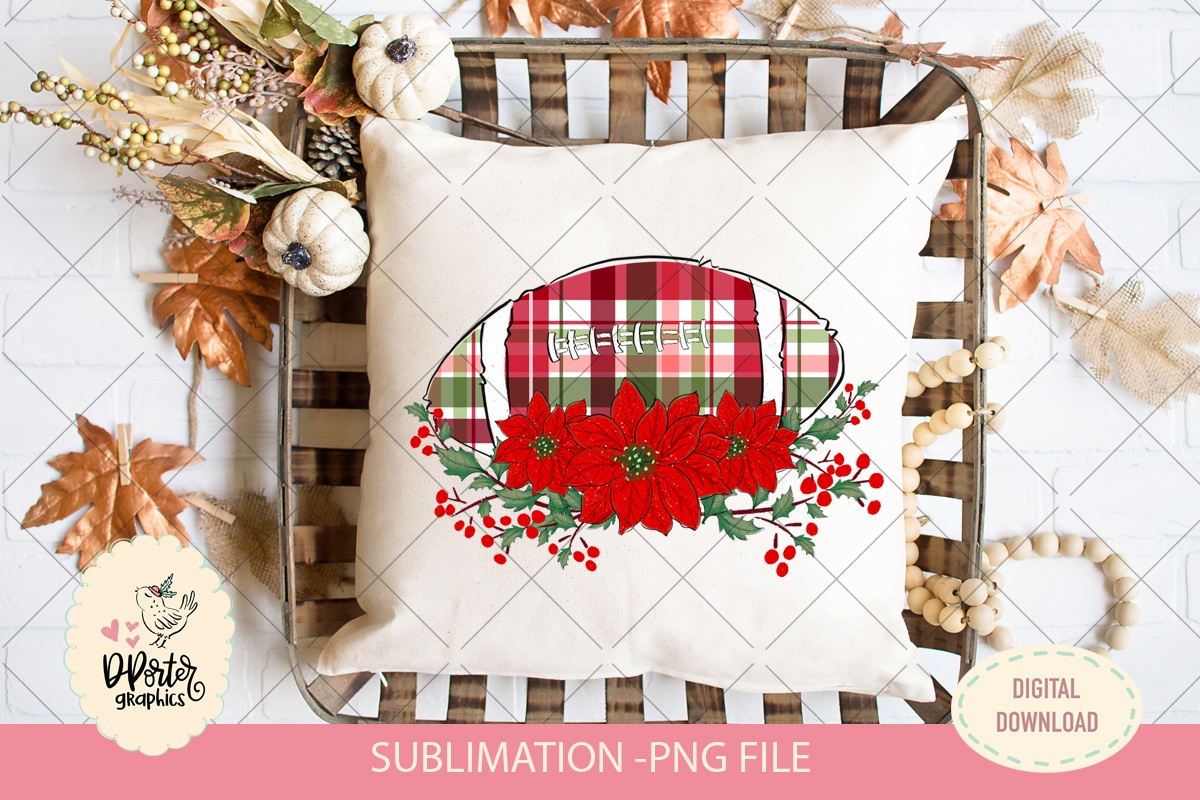 Football christmas plaid sublimation png example image 1
