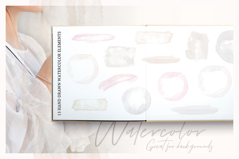 So Flowery Branding Kit + Watercolours example image 10