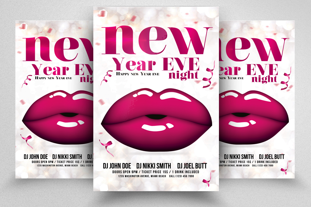 Happy New  Year Eve Night Flyer example image 1