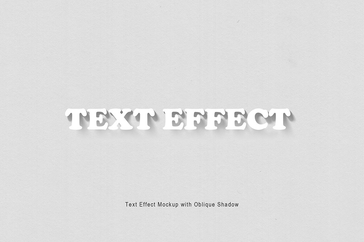 Text Effect Mockup with Oblique Shadow example image 2