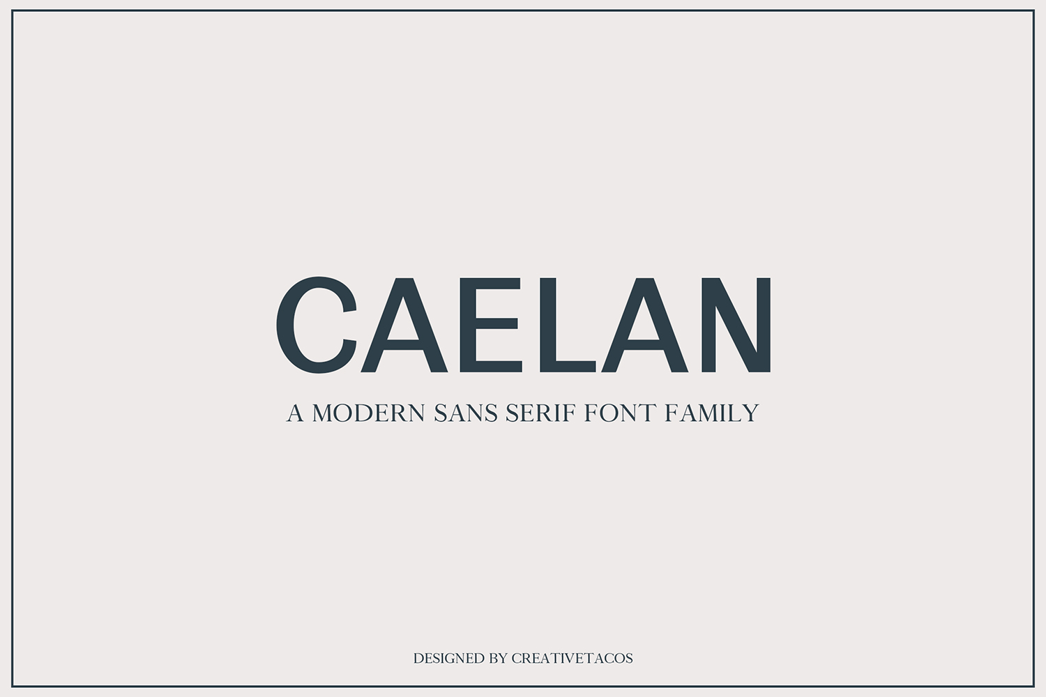 Calean Sans Serif Font Family Pack example image 1