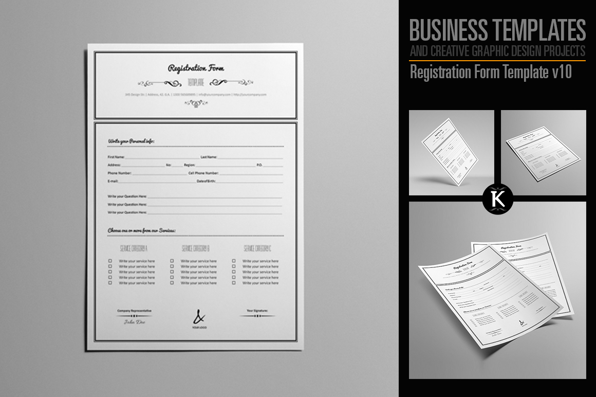 Registration Form Template v10 example image 1