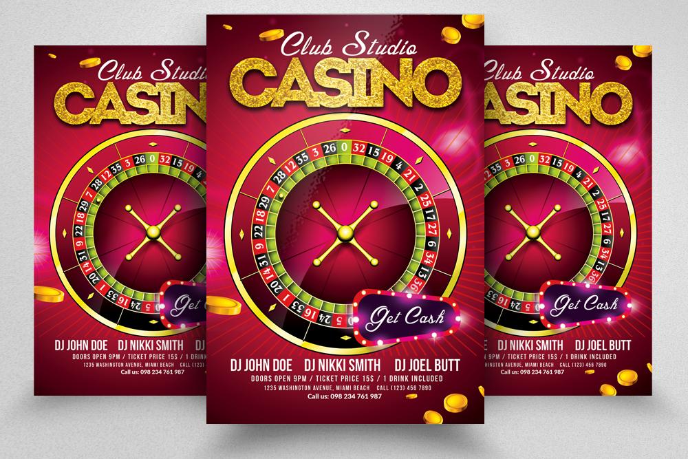 10 Casino Flyers Bundle example image 3