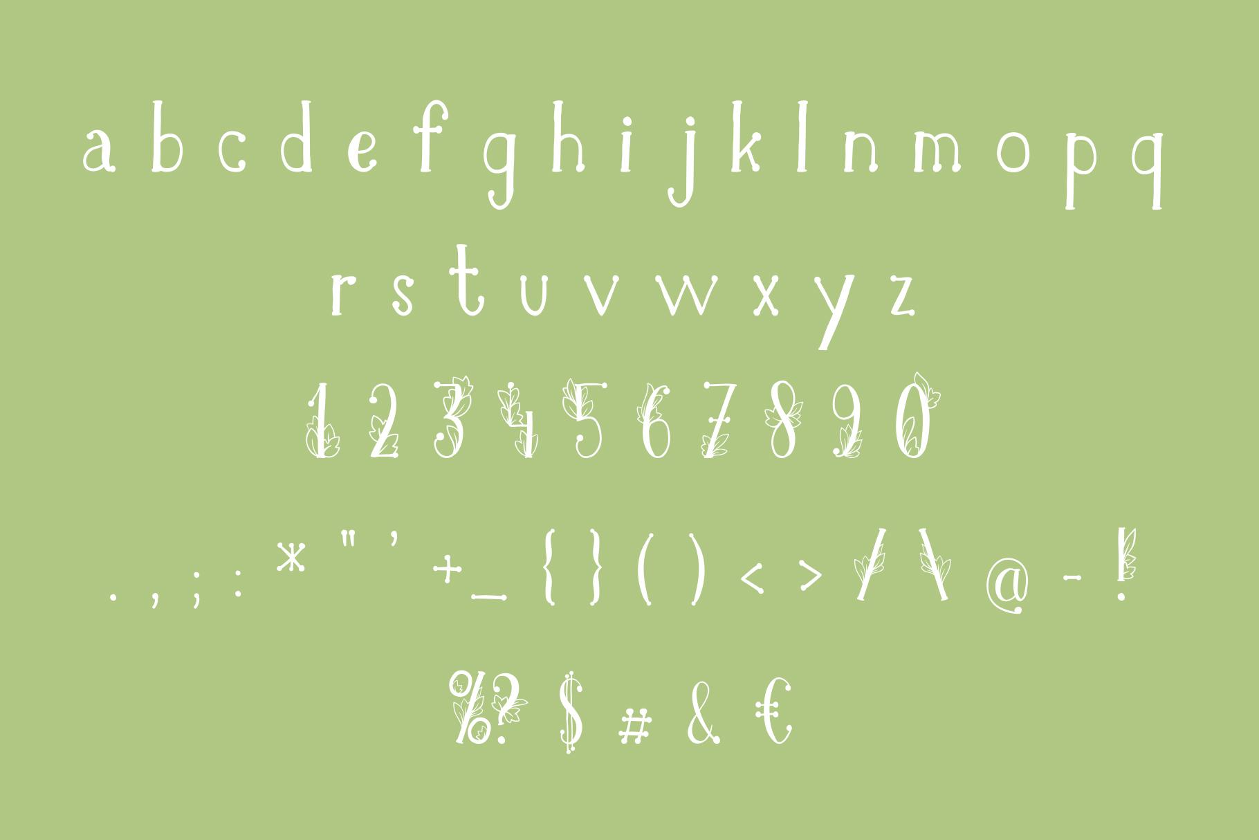 Onferia - decorative leaf font example image 7