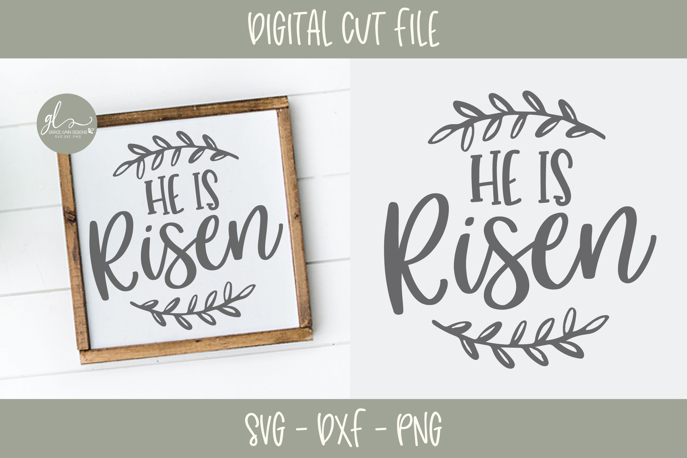 He Is Risen - Easter SVG Cut File example image 2