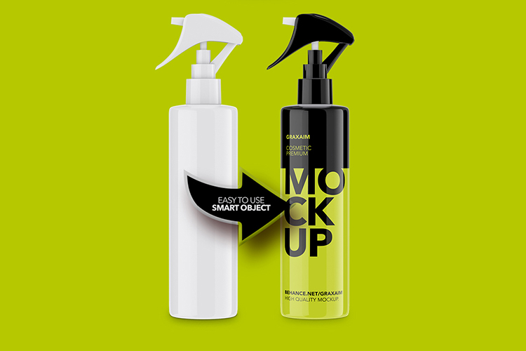 Mockup - Plastic Cosmetic Pump Bottle example image 3