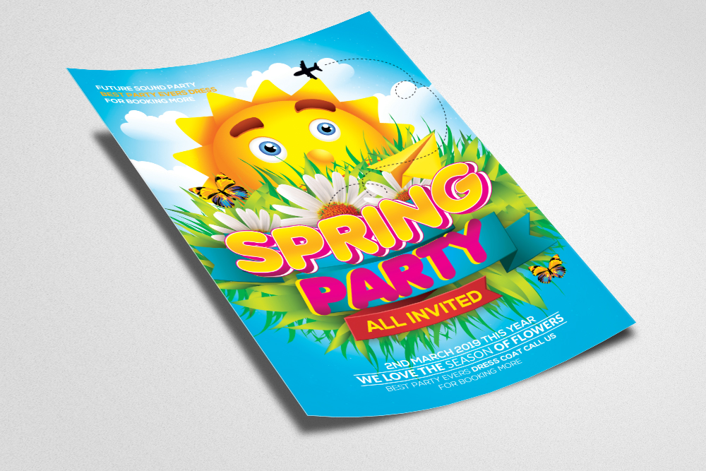Spring Party Flyer Template example image 2