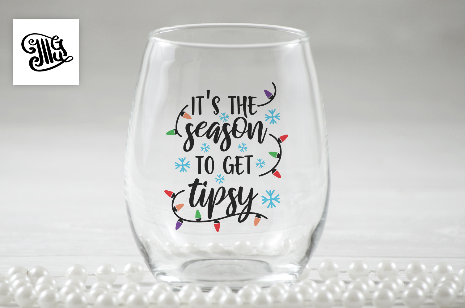 It's the season to get tipsy - Christmas wine example image 1