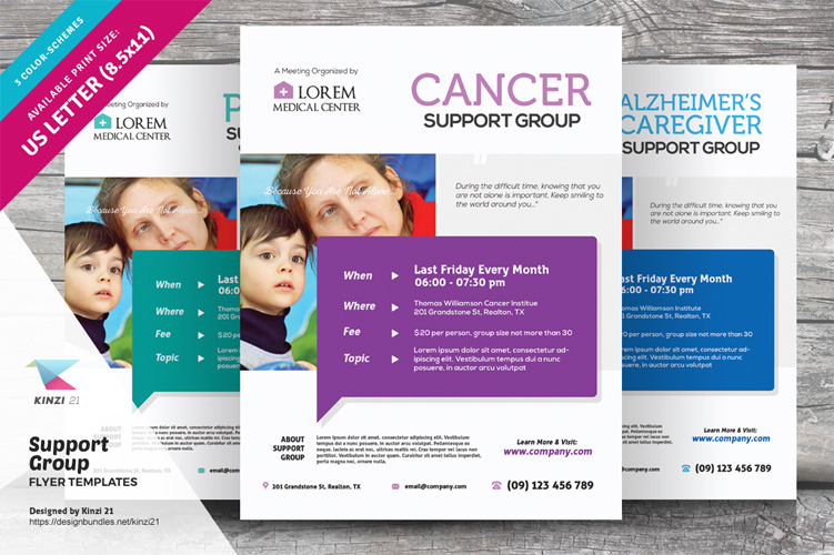 Support Group Flyer Templates example image 1