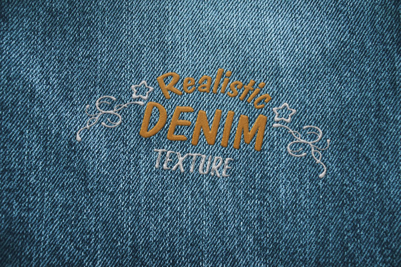 15 Denim Jean Fabric Textures JPG example image 4