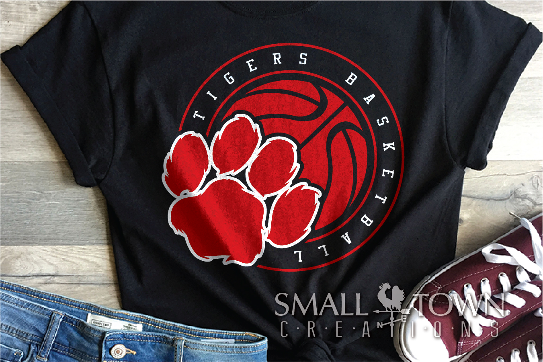 Tigers basketball, tiger mascot, team, PRINT, CUT, DESIGN example image 2