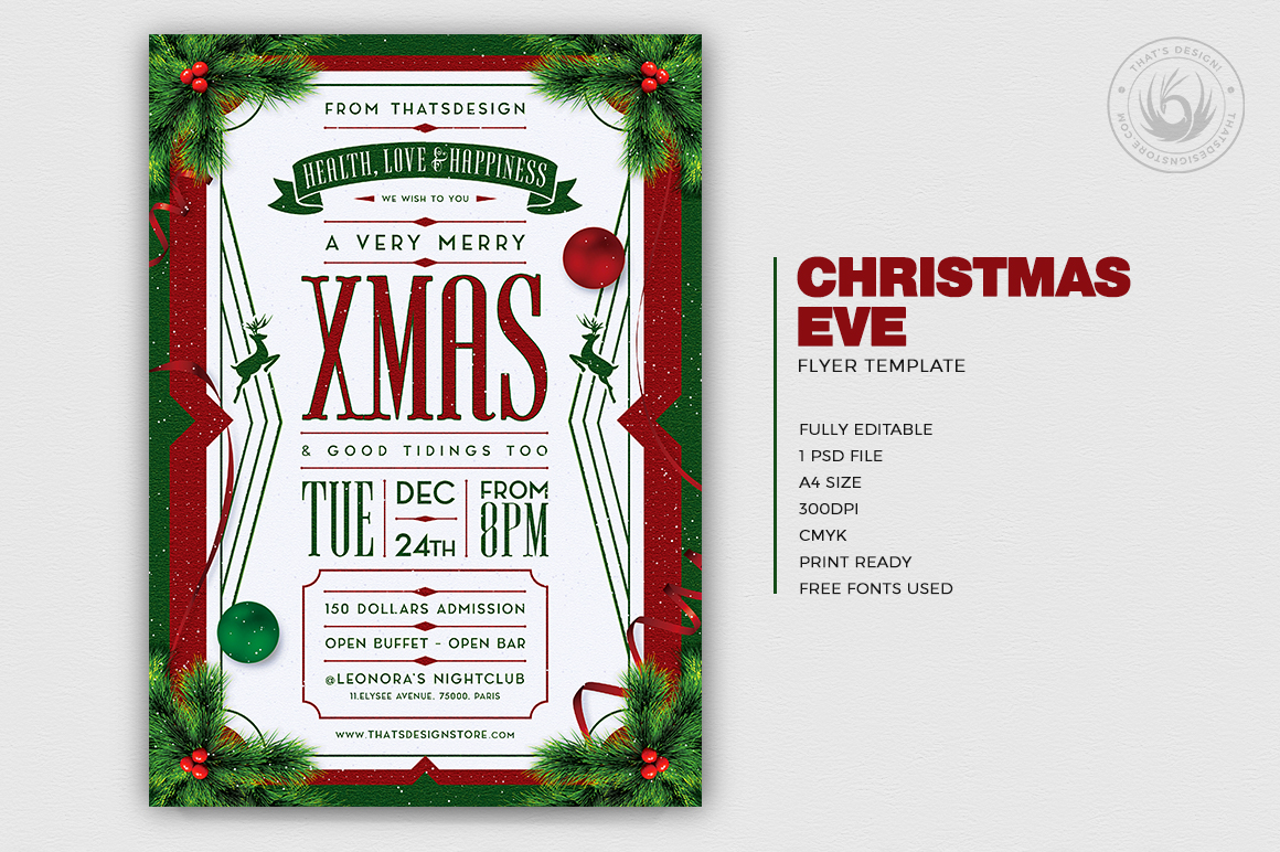 Christmas Eve Flyer Template V8 example image 2