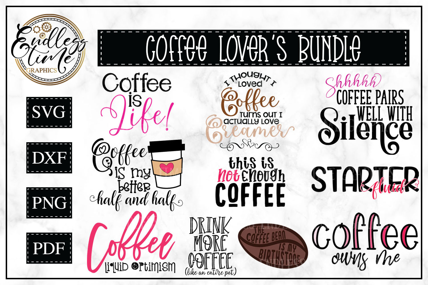 Coffee Bundle - 10 Funny Coffee Quotes for Coffee Lovers example image 1