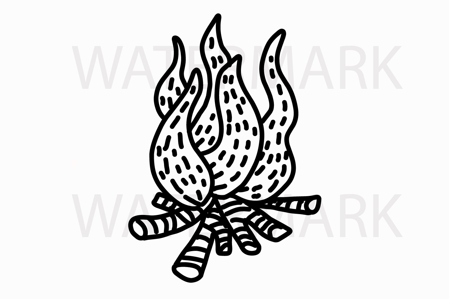 Fire element camping - SVG/JPG/PNG Hand Drawing example image 1