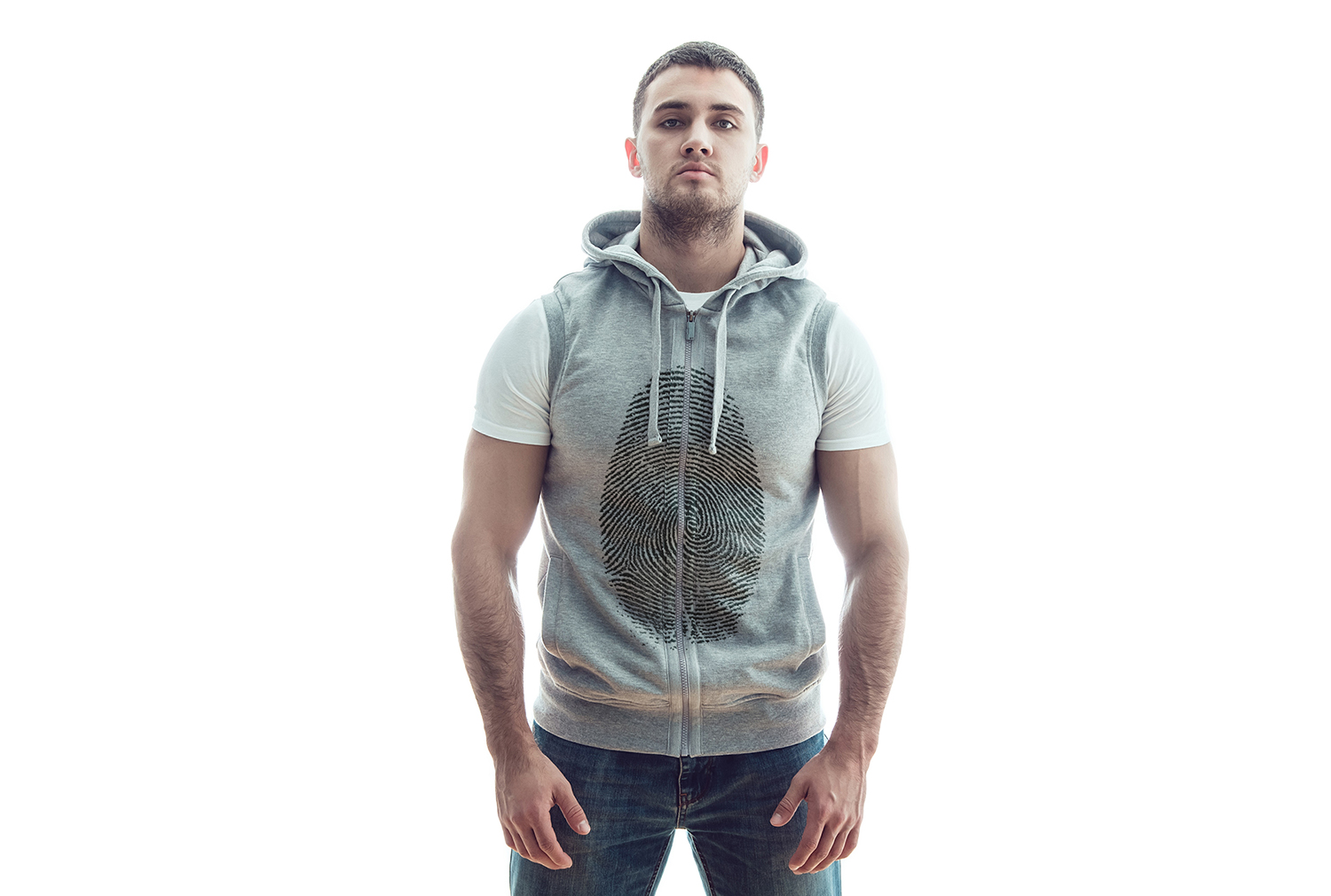 Sleeveless Hoodie Mock-Up example image 11