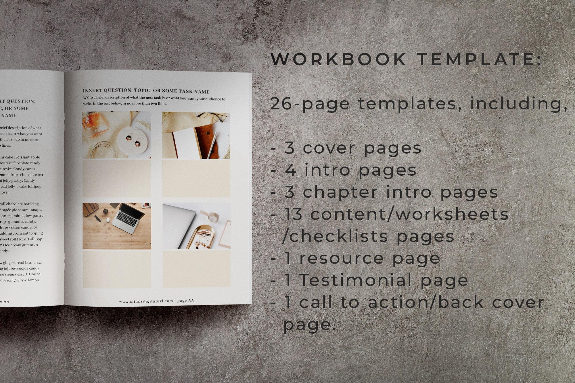 Workbook Canva Template | Mink example image 2