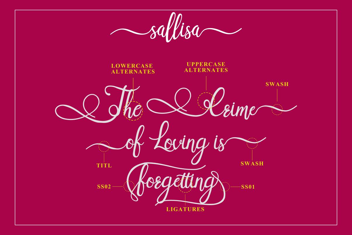 Sallisa - beautiful script font example image 8