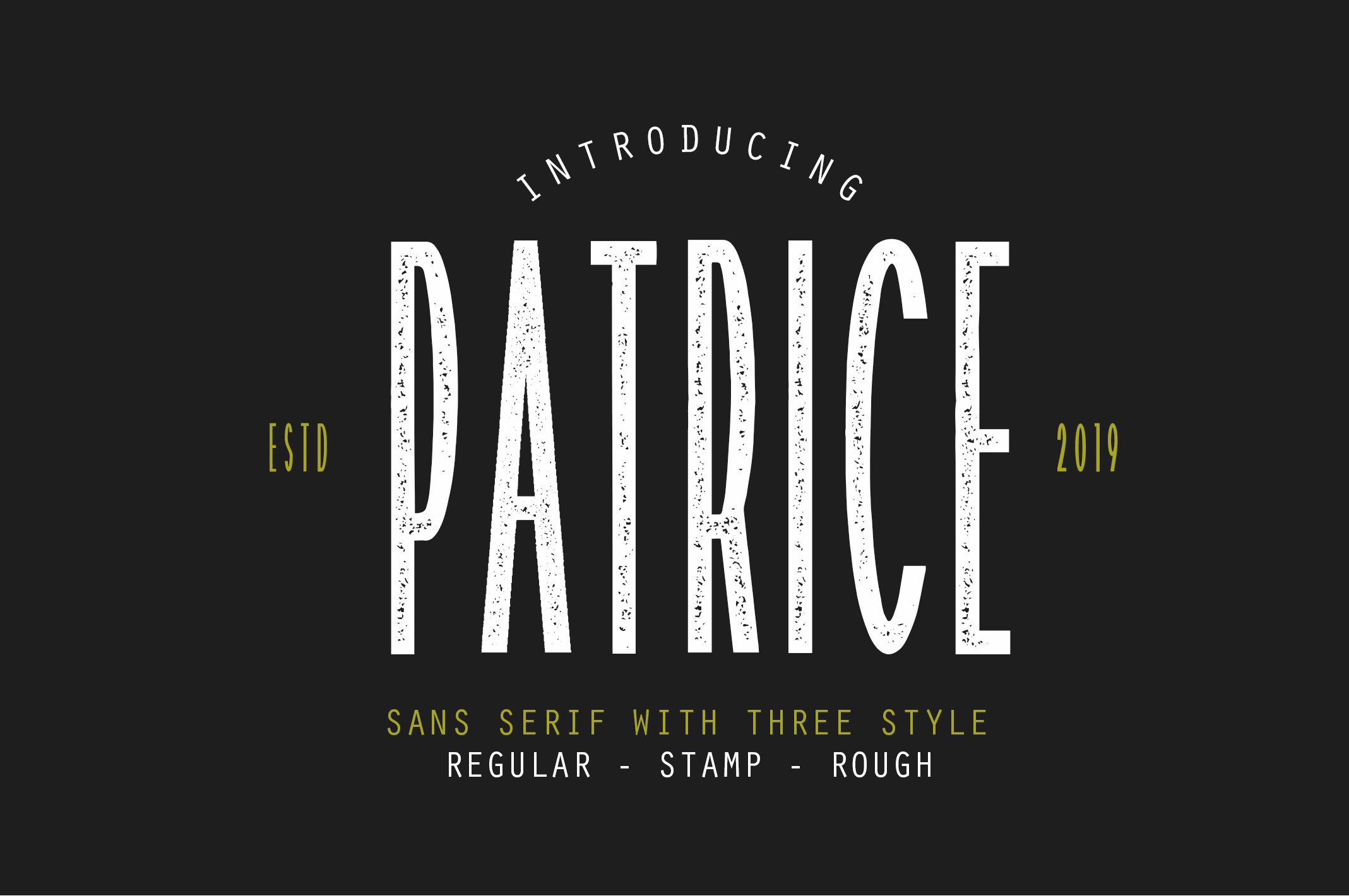 Patrice | Sans Serif Font example image 1