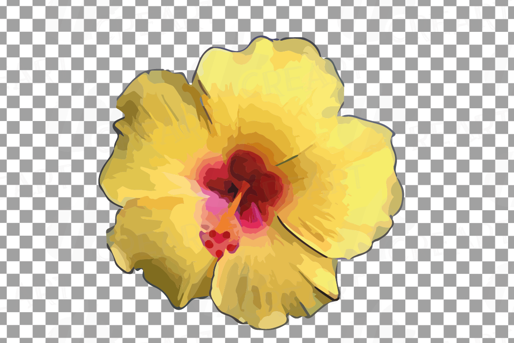Watercolor yellow flowers and green leaves clip art pack example image 8