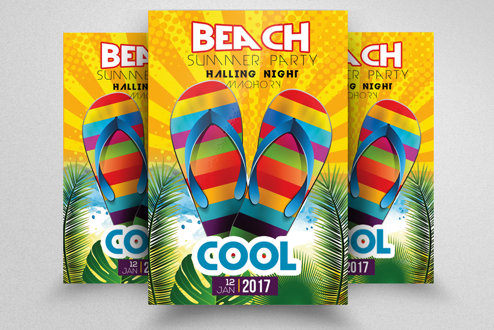 10 Summer Beach Party Flyers Bundle example image 3