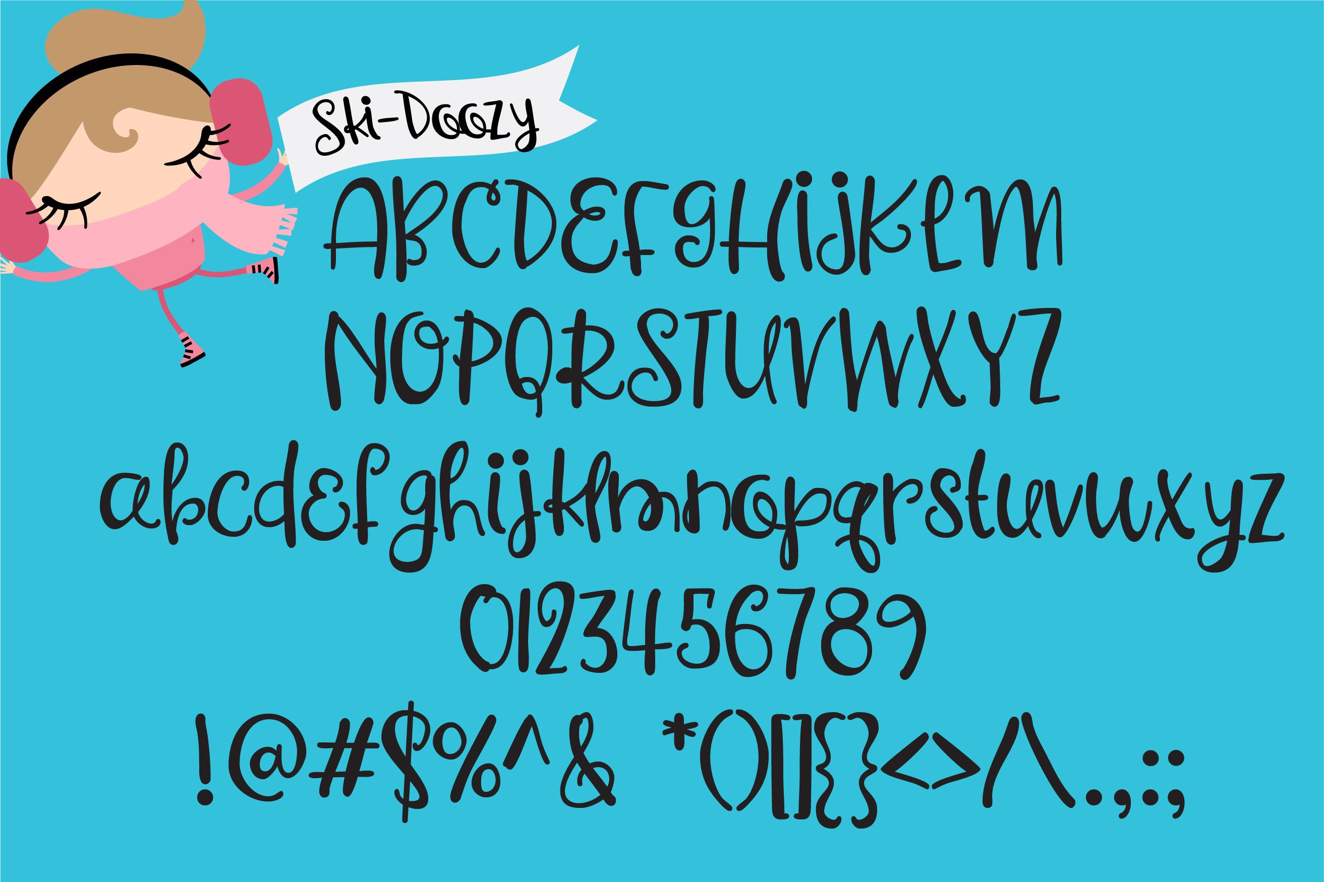 PN Ski-Doozy and Ski-Dazy Font Duo example image 3