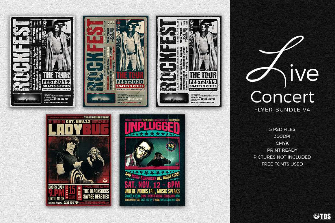 Live Band Flyer Bundle V4 example image 2