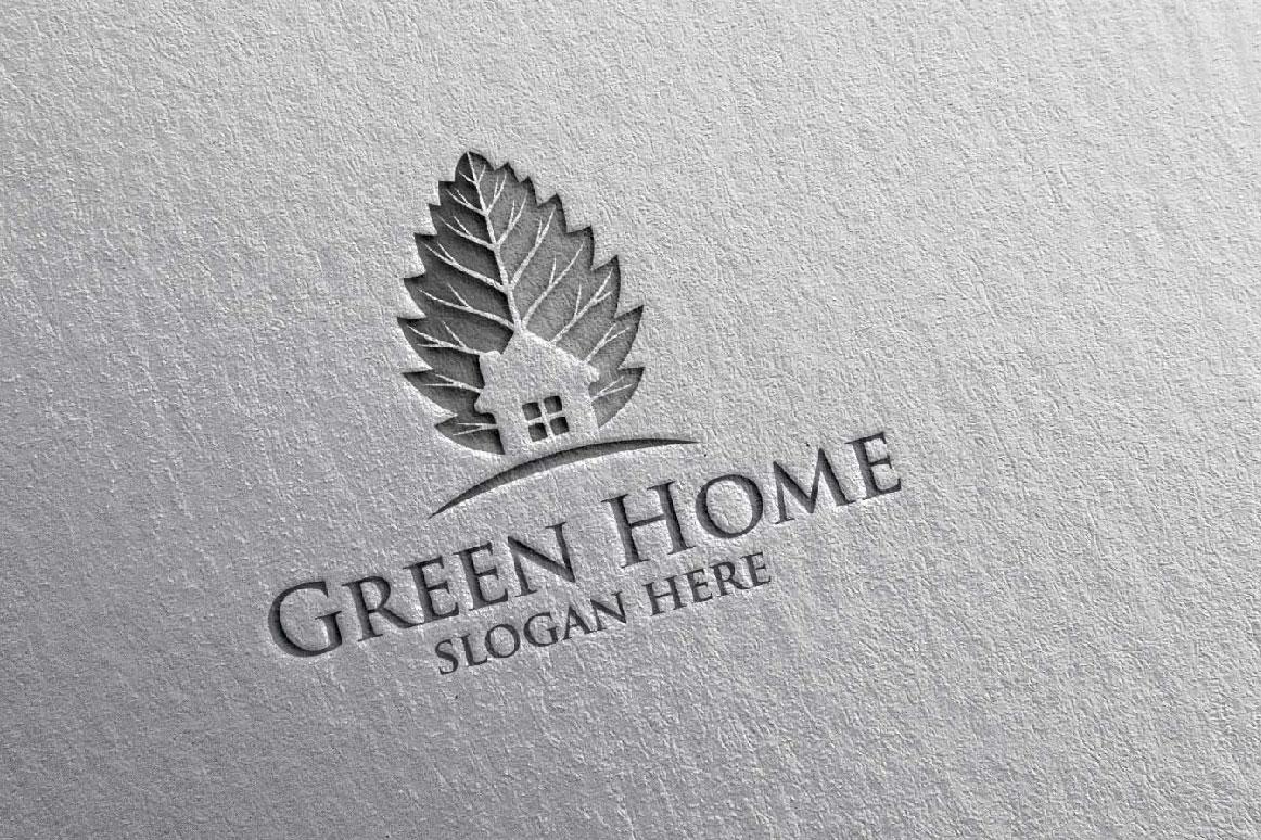 Real estate Logo, Green Home Logo 20 example image 4