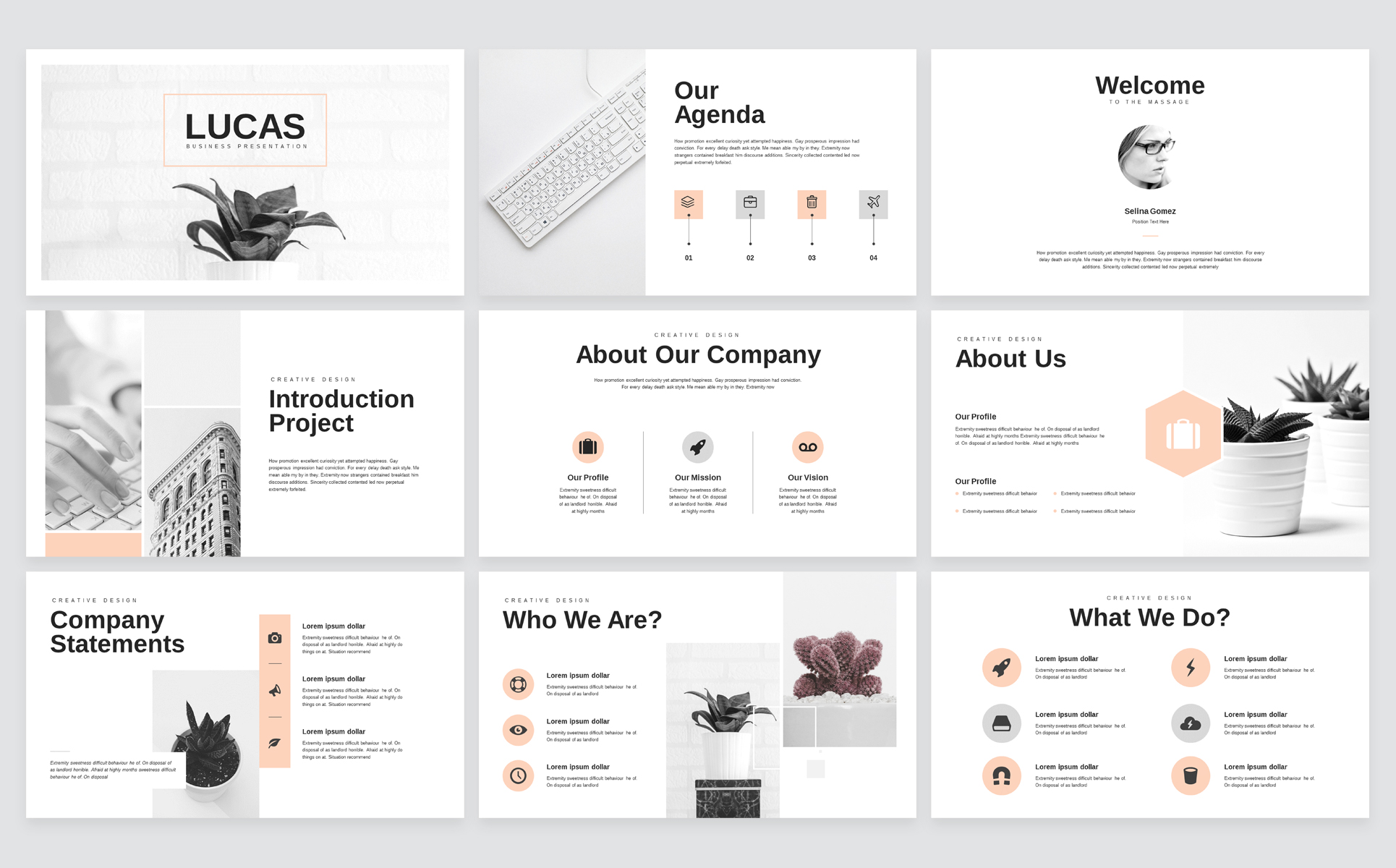 Minimal Business PowerPoint Presentation Template example image 2