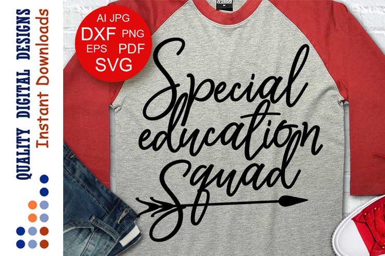 School svg files Special Education squad svg example image 1