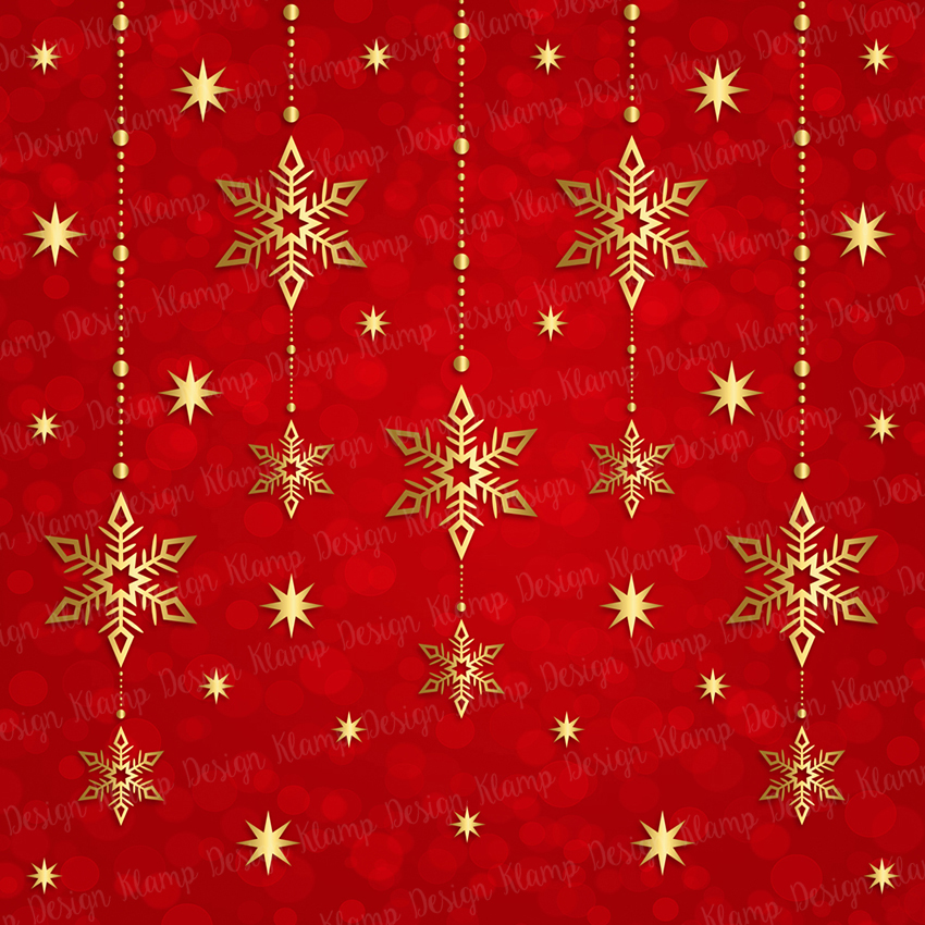 Red and Gold Christmas Digital Paper Pack / Backgrounds / Scrapbooking / Patterns / Printables / Card Making example image 6