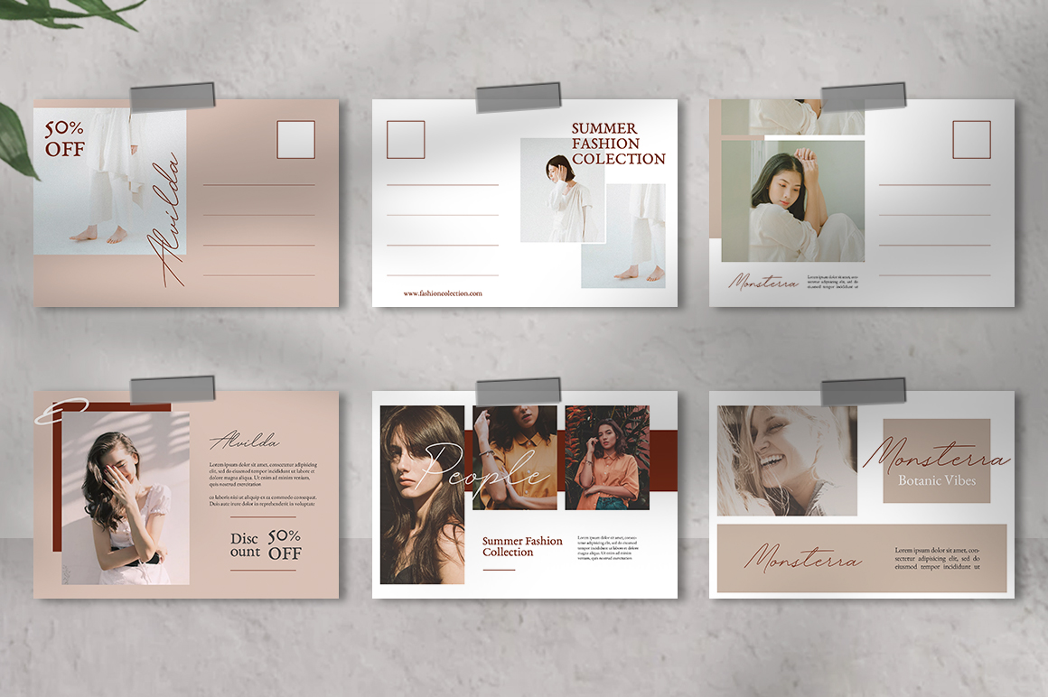 Neutral Postcard Templates example image 5