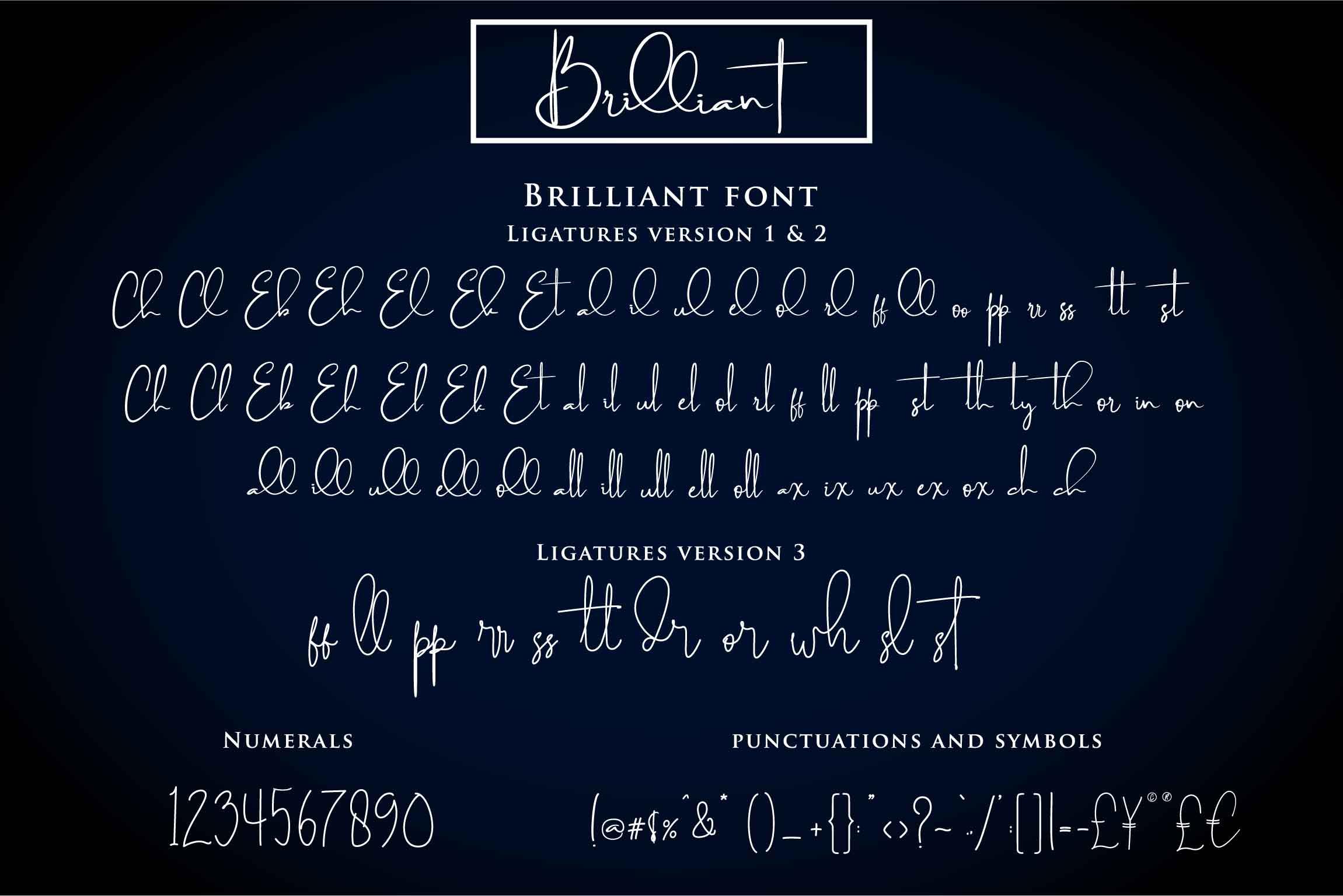 Brilliant - 3 Signature Font example image 6