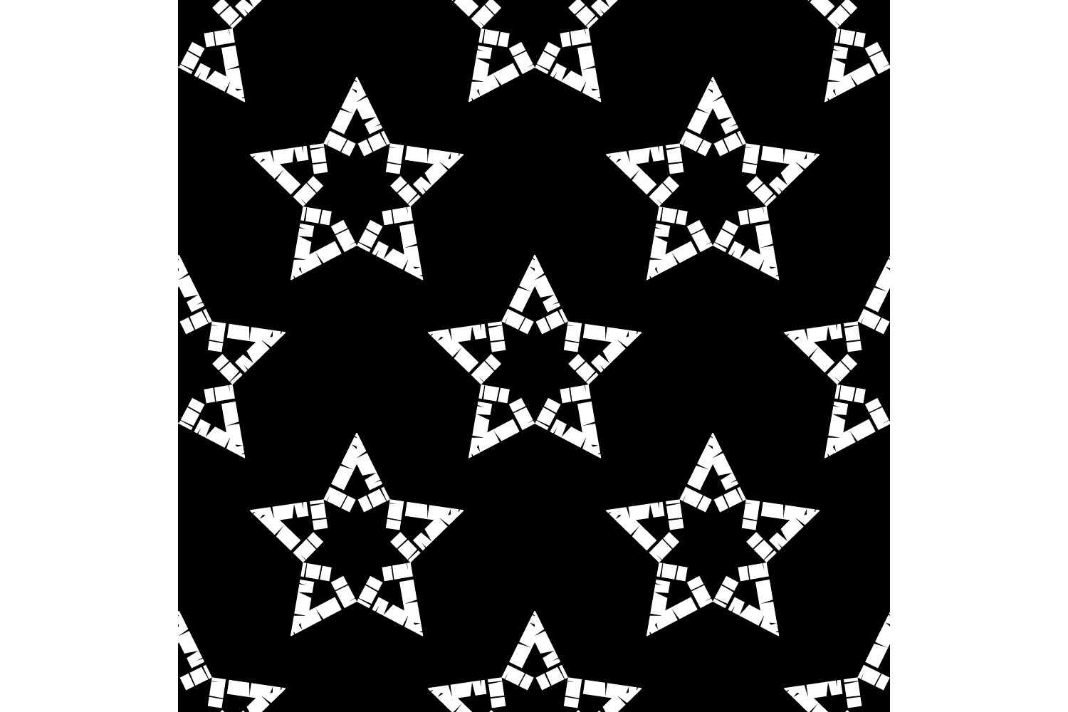 Ornament with Stars. Set of 10 seamless patterns. example image 10