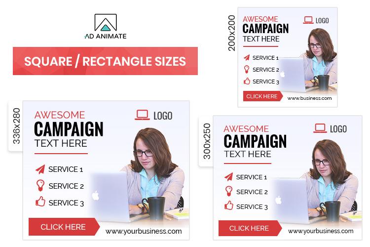 Multipurpose Animated Ad Banner Template -MU002 example image 2