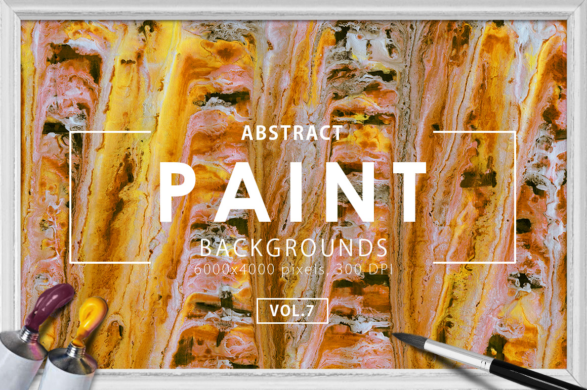 Abstract Paint Backgrounds Vol.7 example image 1