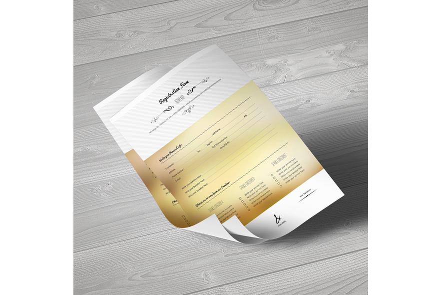 Registration Form Template v15 example image 3
